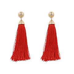 Women's Drop Earrings Jewelry Tassel Bohemian Personalized Euramerican Fashion Linen/Cotton Blend Alloy Irregular Jewelry ForWedding