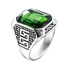 miesten sormus Emerald ainutlaatuinen muotoilu euramerican muoti zirkoni Emerald metalliseos koruja 147 häät erikoinen vuosipäivän