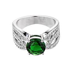 Damski pierścionek szmaragdowy niepowtarzalny projekt euramerican moda cyrkon szmaragdowy biżuteria biżuteria 147 ślub rocznica specjalnej