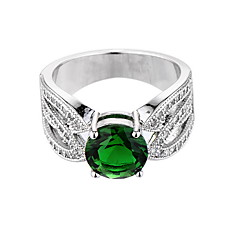 Ženski prsten emerald jedinstveni dizajn euramerican moda cirkon smaragdne legure nakit nakit 147 vjenčanja posebne prigodne obljetnice