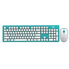 Fd ultra-fino economia de energia 2.4ghz teclado sem fio e mouse combo para pc e mac