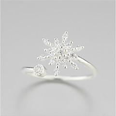 925 순수한 은화가 녹고 눈이 꽃 신선한 패션 개방 링
