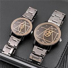 לזוג שעוני אופנה שעון יד ייחודי Creative צפה Chinese קווארץ מתכת אל חלד להקה וינטאג' יום יומי כסף