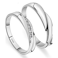 Pro páry Prsten Onyx Kubický zirkon minimalistický styl Elegantní Zirkon Round Shape Šperky ProSvatební Párty a večerní akce Zásnuby