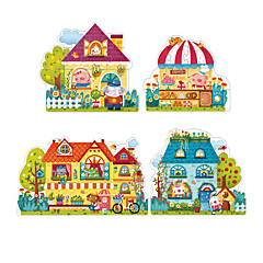 Puzzles Holzpuzzle Bausteine Spielzeug zum Selbermachen Quadratisch Papier