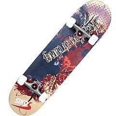 31 Inch Complete Skateboards Standardi Skateboards Kevyt Vaahtera 608ZZ-Musta Punainen Vihreä Sininen Kuvio