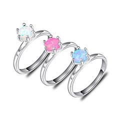 指輪 女性用 / 男性用 / 男女兼用 / 子供用 クリスタル 銀 銀 7 / 8 / 9 銀 装飾物のカラーは画像をご参照ください.