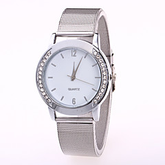 Unisex Fashion Watch Chinese Quartz Stainless Steel Band Cool Casual Silver