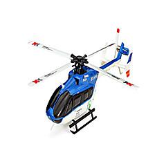 XK Вертолет 6-канальн. 6 Oси 2.4G - Синий Углеволокно