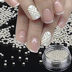 1 BottleTiny Circle Bead Decoration Silver Gold 3D Nail Art Caviar DIY Accessories Manicure Tools