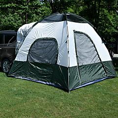 3-4 사람 텐트 트럭 텐트 더블 베이스 캠핑 텐트 원 룸 접이식 텐트 방수 자외선 방지 비 방지 먼지 방지 용 캠핑 & 하이킹 >3000mm 알루미늄 합금 인조 가죽 옥스퍼드 섬유 CM