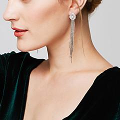 Dame Dråbeøreringe Ørering Statement-smykker luksus smykker Elegant Lang Længde Galakse Mode Plastik Simuleret diamantCirkelformet