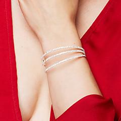 Damen Armreife Tennis Armbänder Elegant Brautkleidung Mehrlagig Modeschmuck Krystall Zirkon Strass Aleación Kreisform Schmuck Für