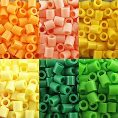 environ 500 pièces / perles Perler sac de 5mm fusionnent perles perles hama safty eva matériel pour les enfants (assortiment b17-b24)