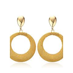 Femme Boucles d'oreille goutte Simple Style Classique Elegant Acier au titane Forme de Cercle Bijoux Pour Mariage Fiançailles Quotidien