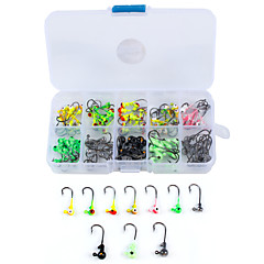 Anmuka 100Pcs/Box Multicolor 1g Lead Jig Head Fishing Hook