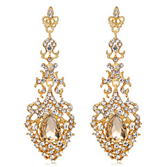 Women's Drop Earrings Unique Design Euramerican Fashion Personalized Rhinestones Alloy Flower Jewelry ForWedding Special Occasion