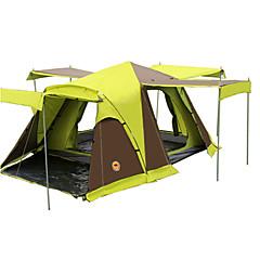 CAMEL 3-4 사람 텐트 더블 베이스 캠핑 텐트 투 룸 접이식 텐트 통풍 잘되는 방수 먼지 방지 폴더 용 캠핑 & 하이킹 >3000mm 테릴린 유리 섬유 CM