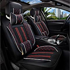 Uusi istuintyyny istuimen nahka istuinsuojus neljä vuodenaikaa yleinen jää ympäröi viisi perheen auton istuimen musta ja punainen