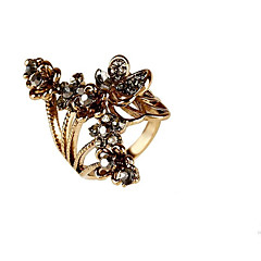 Women's Girls' Midi Rings Rhinestone Vintage Personalized Floral Simple Style Classic Silver Plated Gold Plated Alloy Flower Butterfly 008