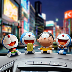 Diyautomotive ornamenten cartoon anime doraemon auto hanger& Ornamenten jade kristal
