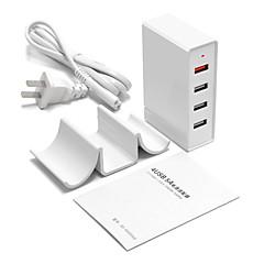 USB 충전기 4 포트 데스크 충전기 빠른 충전 3.0 스탠드 독 전세계 충전 어댑터