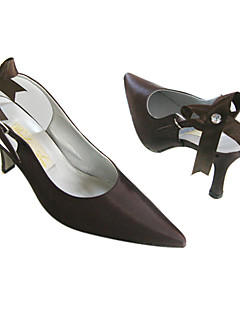 Satin Upper High Heel Closed-toes Evening Shoes More Colors