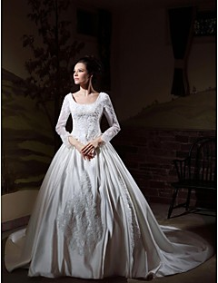 Lanting Bride® Ball Gown Petite / Plus Sizes Wedding Dress - Classic & Timeless / Elegant & Luxurious Vintage Inspired Cathedral Train