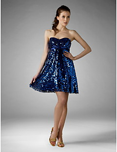 TS Couture Cocktail Party Sweet 16 Holiday Dress - Sparkle & Shine A-line Princess Strapless Sweetheart Short / Mini Sequined withBow(s)