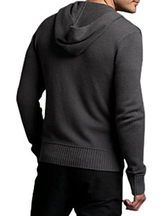 Men's Hoodie Zipper Fastened Cashmere Cardigan