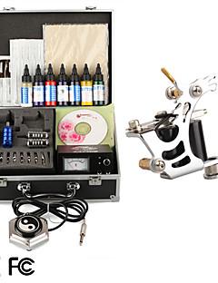 tatuering kit pro en tatueringsmaskin power tip nålar huden bläckbehållare