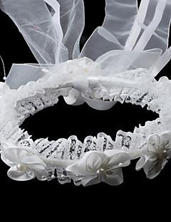 Capacete Bandanas Casamento/Ocasião Especial Cetim/Imitação de Pérola Menina das Flores Casamento/Ocasião Especial
