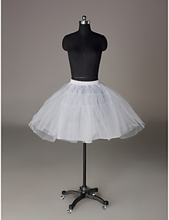 Nylon A-Line Half 3 Tier Short-Length Slip Style/ Wedding Petticoats