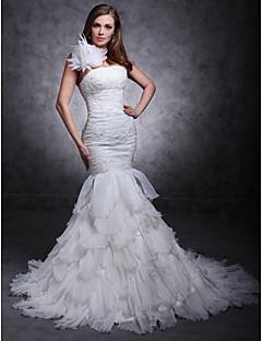 Lanting Bride® Rozevláté Drobná / Nadměrné velikosti Svatební šaty - Klasické & nadčasové / Elegantní & luxusní Velmi dlouhá vlečkaJedno