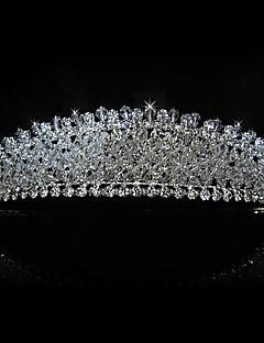 upea metalliseos strassit morsiamen tiara / päähine
