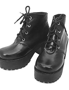 Lolita Shoes Punk Lolita Lolita High Heel Shoes Solid 8 CM For PU Leather/Polyurethane Leather Polyurethane Leather