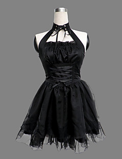 Sleeveless Knee-length Black Cotton Polyester Lolita Outfit