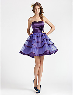 Homecoming Cocktail Party/Homecoming/Wedding Party/Sweet 16 Dress - Regency Plus Sizes A-line/Princess Strapless/Sweetheart Short/MiniStretch