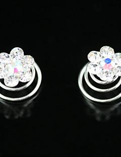 2 stuks prachtige strass bruids pinnen bruiloft / speciale gelegenheid hoofddeksels