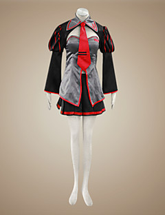 Inspired by Vocaloid Zatsune Miku Video Game Cosplay Costumes Cosplay Suits / Dresses Patchwork Black / Red Long SleeveCoat / Skirt /