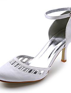 satijn bovenste hoge hak-tenen gesloten met strass huwelijk bruids schoenen