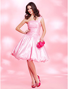 TS Couture Cocktail Party Homecoming Prom Sweet 16 Dress - Sexy A-line Ball Gown Princess One Shoulder Knee-length Taffeta withDraping