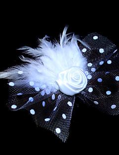 tule lindo e pena headpiece menina flor com roseta