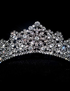 delikat antik sølv tiara