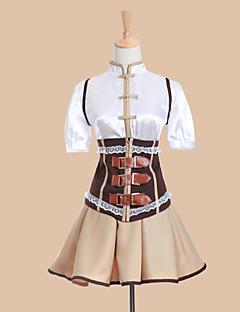 קיבל השראה מ Puella Magi Madoka Magica Tomoe Mami אנימה תחפושות קוספליי חליפות קוספליי שמלות טלאים שרוולים קצרים אפוד חולצה חצאית מחוך