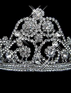 paistaa tekojalokivi metalliseos kanssa helmi morsiamen tiara