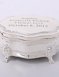 gepersonaliseerde verzilverde tutania delicate sieraden doos