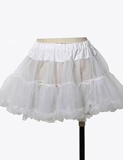 Saia Lolita Clássica e Tradicional Princesa Cosplay Vestidos Lolita Cor Única Lolita Comprimento Curto Vestido Para Organza