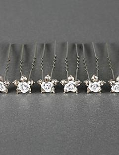 lindos cristais pinos casamento nupcial / flores, 6 peças mais cores disponíveis