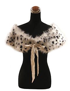 elegante de piel sintética con estampado de cintas / animal de la fiesta / noche chal bolero / envoltura de encogimiento